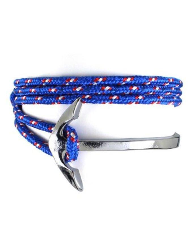 Wrap Armband Vishaak en Touw - Blauw kopen