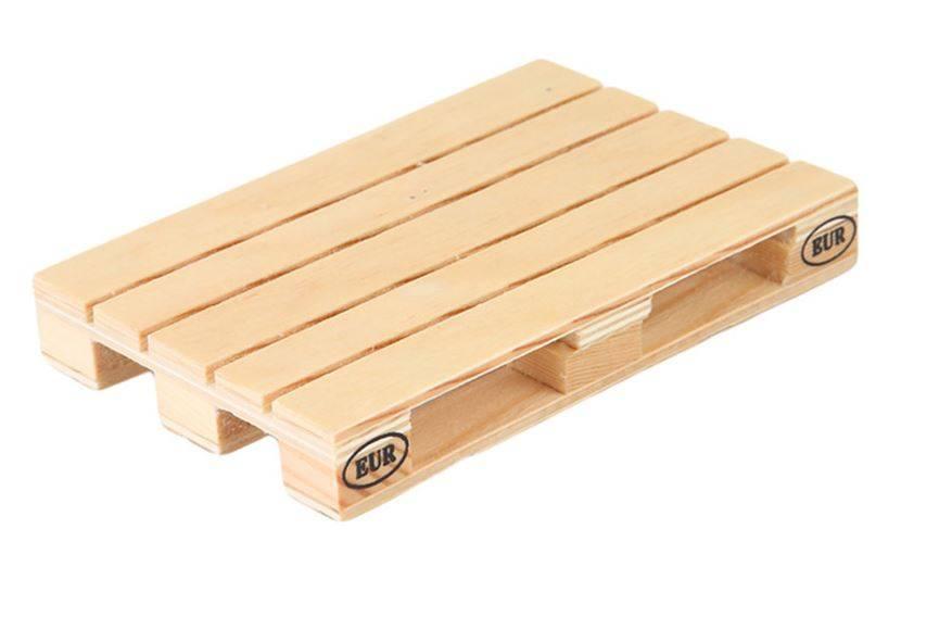 Pallet hout onderzetters set van 4
