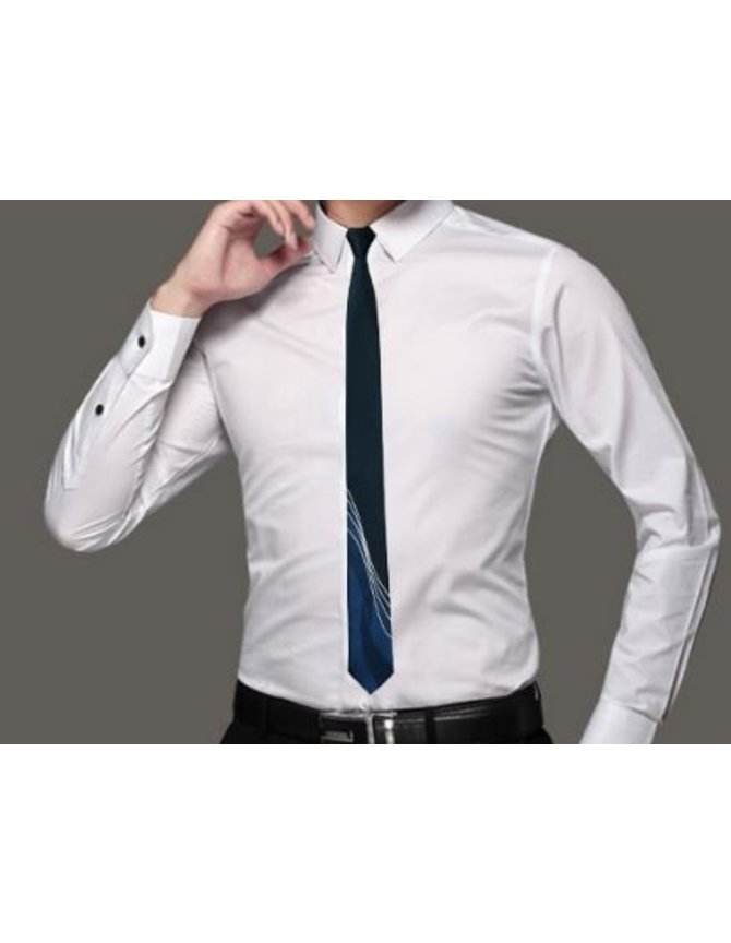 Extra narrow tie darkblue kopen