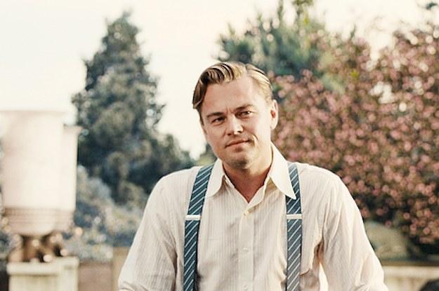Leonardo DiCaprio met bretels in de mode
