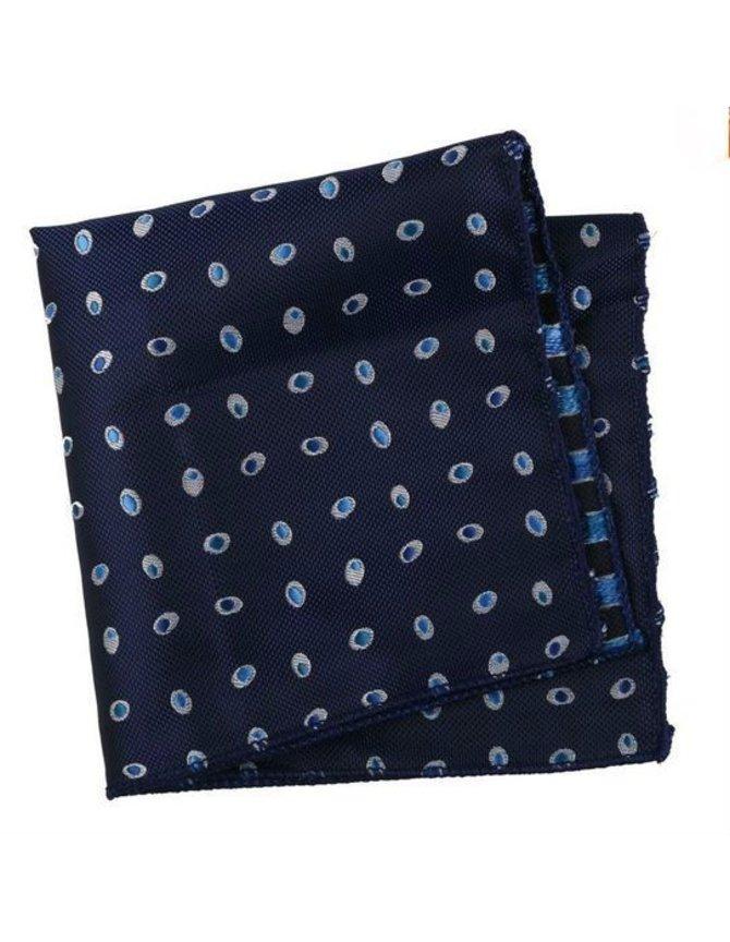 Pochet Blauw met dots kopen