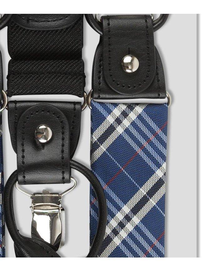 Silk Suspenders blue checkered kopen