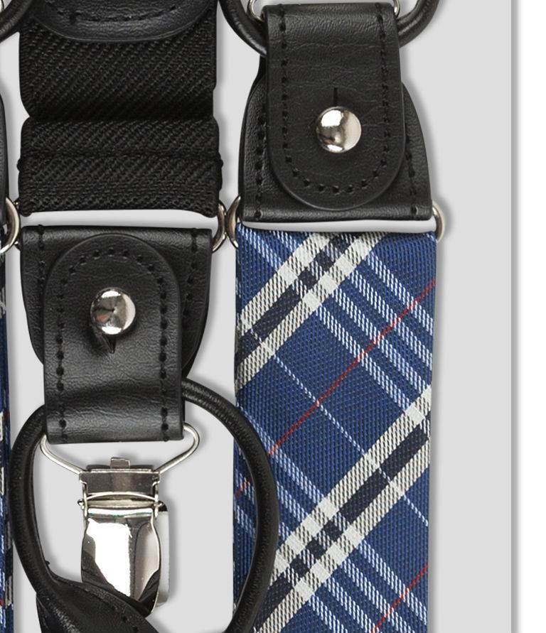 Silk Suspenders blue checkered