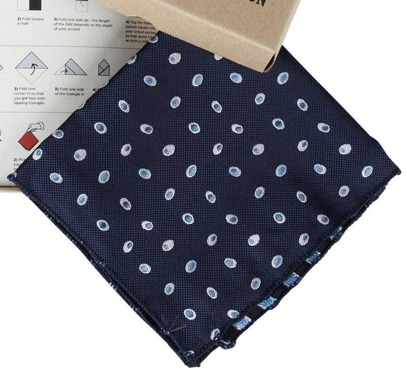 Pochet Blauw met dots