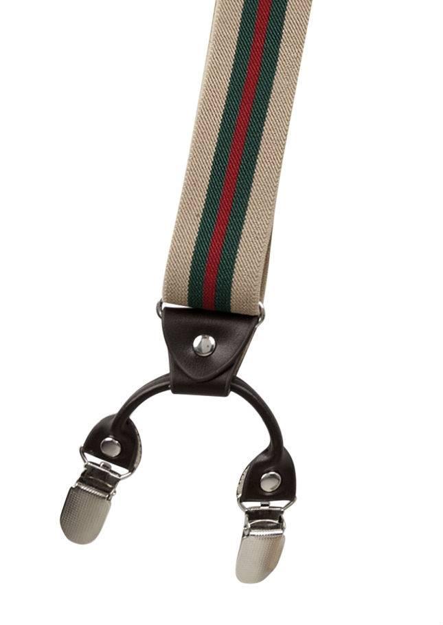Elastische Bretels gestreept met 6 clipjes