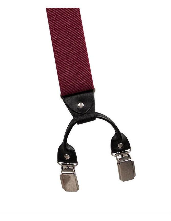 Bretels Rood met Leer 6-clips kopen