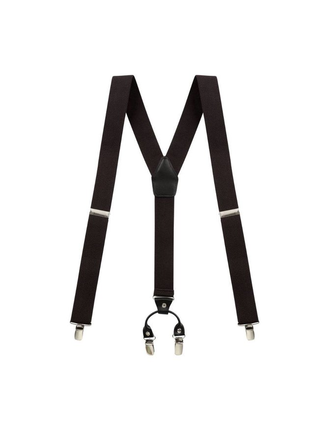 Brown Suspenders with Leather kopen