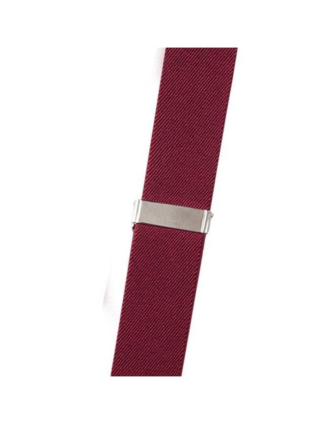 Suspenders Red with Leather: 6-clips kopen