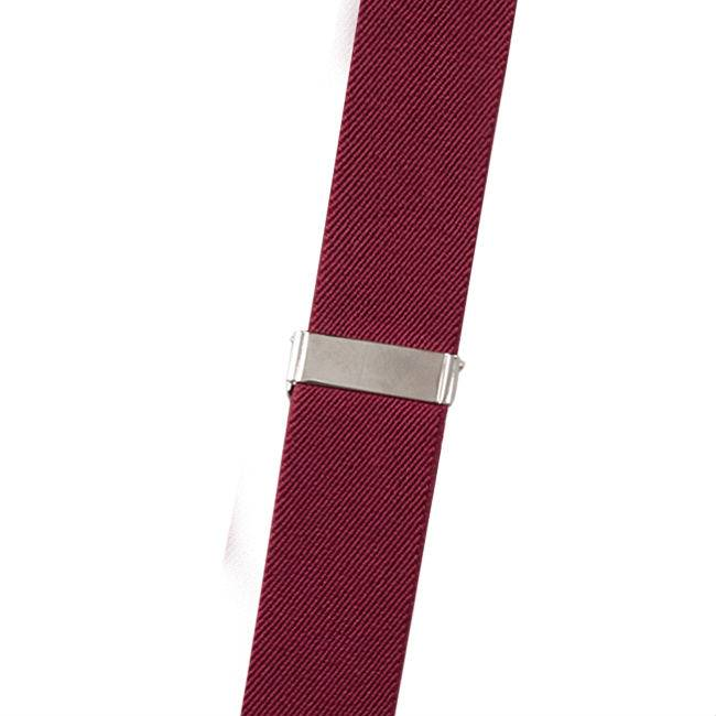 Suspenders Red with Leather: 6-clips