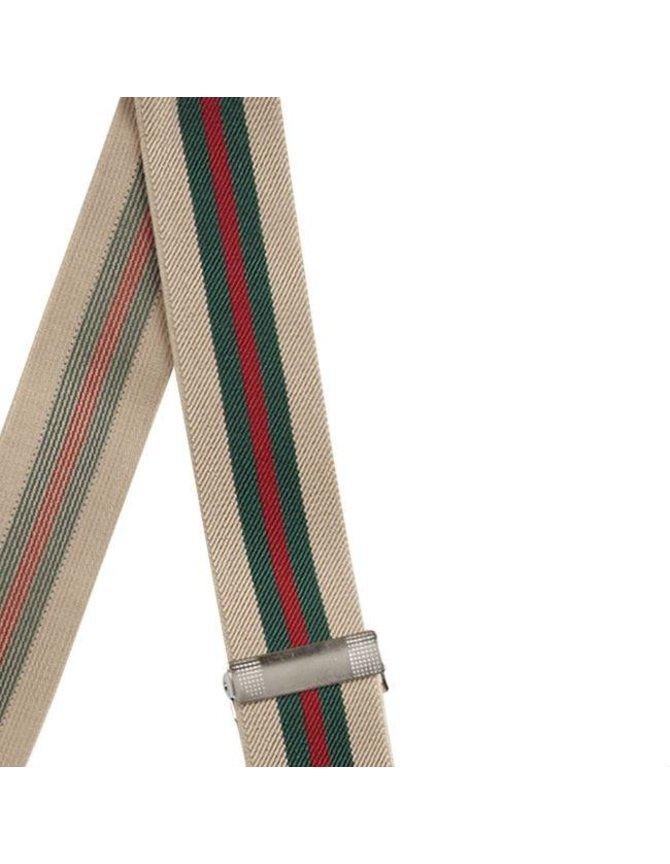 Elastische Bretels gestreept met 6 clipjes kopen