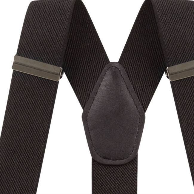 Suspenders Black with clips or buttons