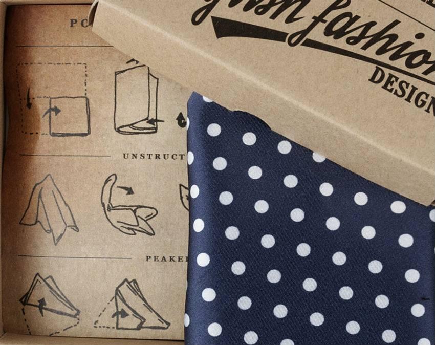 Blue Handkerchief polka dot