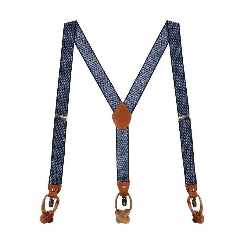 Classy Suspenders Blue Striped