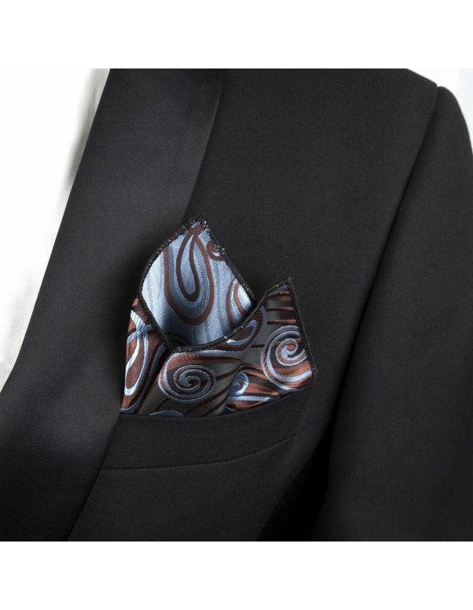 Pocket squares brown and blue kopen