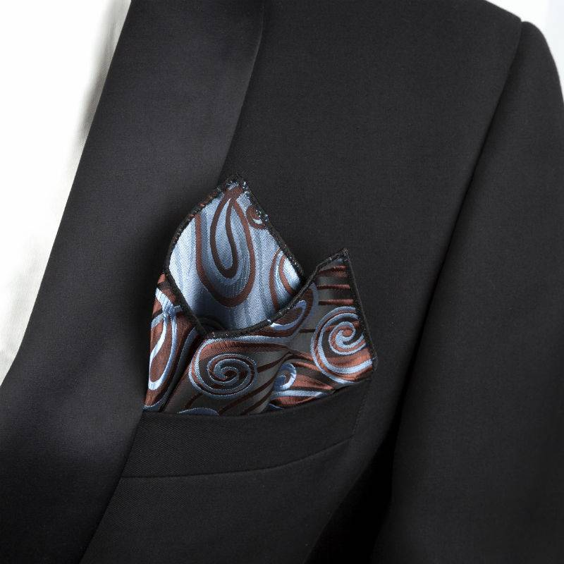 Pocket squares brown and blue