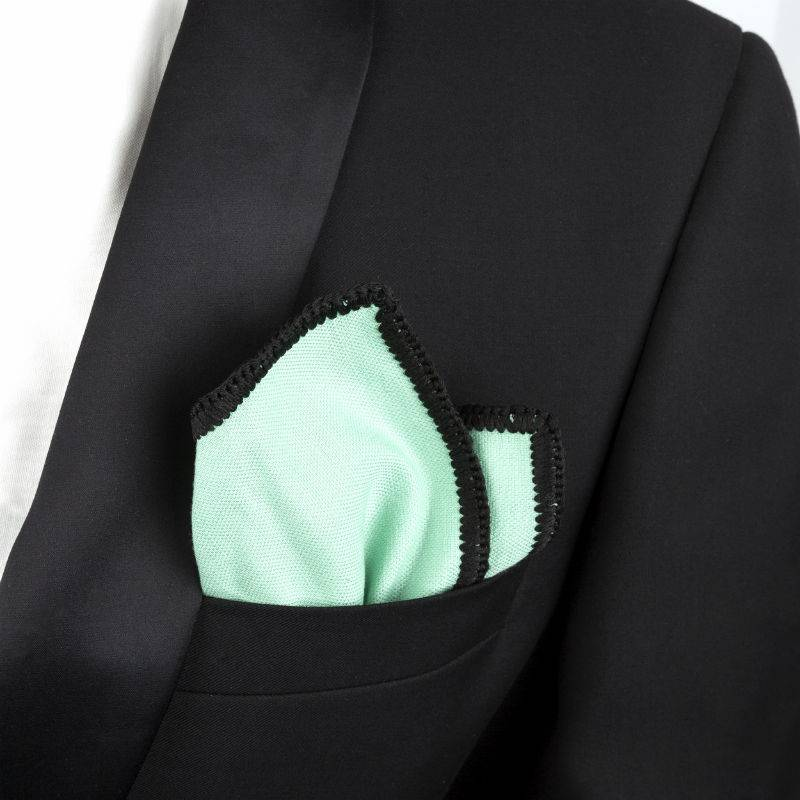 Wool Pocket Square Pastel Green
