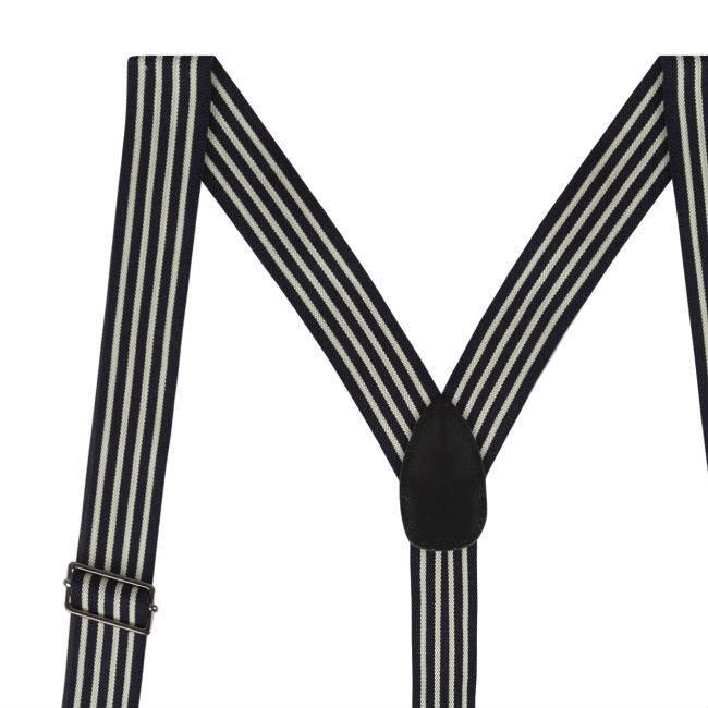 Black Braces Pinstriped
