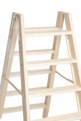 Handige houten dubbeltrap
