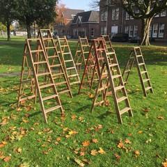 Unieke Vintage ladders van eeuwenoud hout