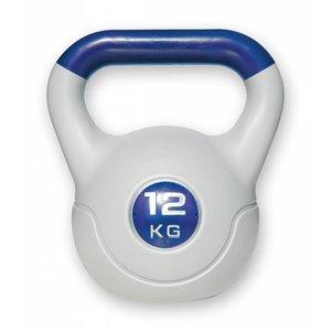 Kunststof aerobic kettlebell 12 kg paars