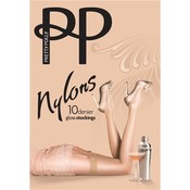 """Pretty Polly 10D. """"Nylons"""" jarretelle kousen / stockings met gladde boord"""