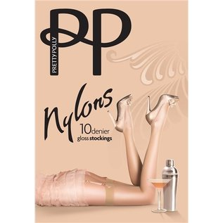 "Pretty Polly 10D. ""Nylons"" Stockings for jarretelles"