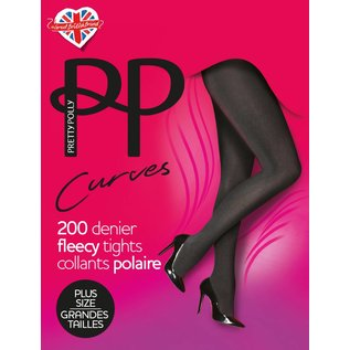 Pretty Polly 200D. Curves Fleecy Tights