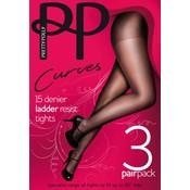 Pretty Polly 15D. Ladder Resist Panty 3 pair