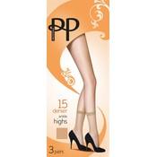 Pretty Polly 15D. Anklehighs (3 pair)