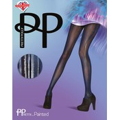 Pretty Polly Blue/Black Wet Look Tights