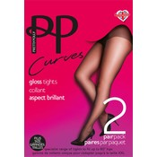 "Pretty Polly 10D. glans ""Nylons"" XL 2 pair Tights"