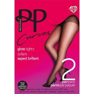 """Pretty Polly Pretty Polly Curves 2 paar glanzend panty""""s"""