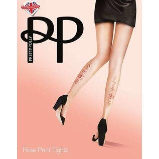 Pretty Polly  Pretty Polly  Rose Tattoo Print Panty