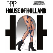 House of Holland Sparkly Blue Star Tights