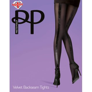 Pretty Polly Velvet Backseam panty