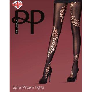 Pretty Polly Spiral Pattern Tights