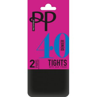 Pretty Polly 40 Denier  Opaque panty's in 2 pair pack