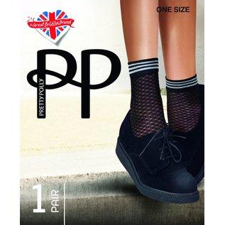 Pretty Polly Diamond Mesh Anklet