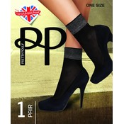 Pretty Polly Sheer Luxury Welt Anklet