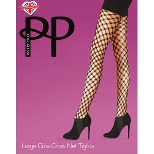 Pretty Polly Large Criss Cross Tights