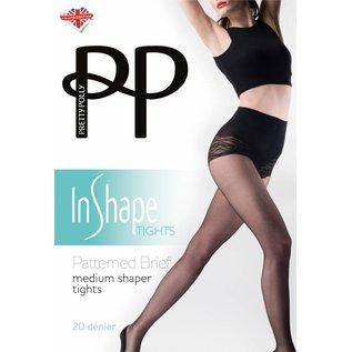 Pretty Polly Medium Shaper Panty met fantasie broekje