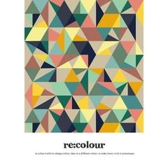 Read Between Lines Poster A4 Kaleidoscope