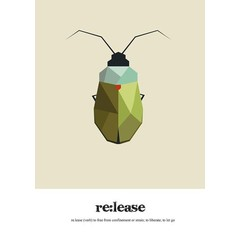 Read Between Lines Poster A4 Beetle