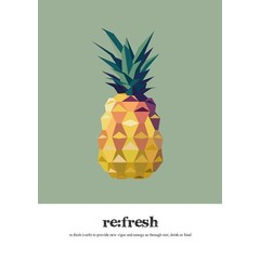 Read Between Lines Poster A4 Pineapple