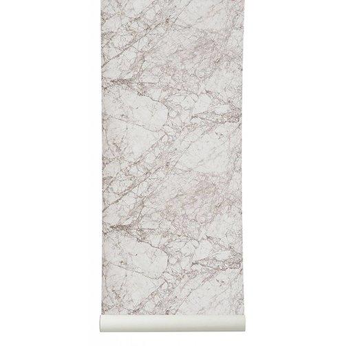 ferm LIVING Marble behang grijs