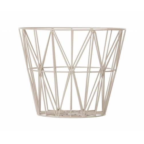 ferm LIVING IJzeren mand Wire basket Grijs L