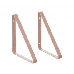 ferm LIVING Plankdrager Set van 2 Roze
