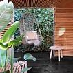 HKliving Hangstoel Zwart Outdoor