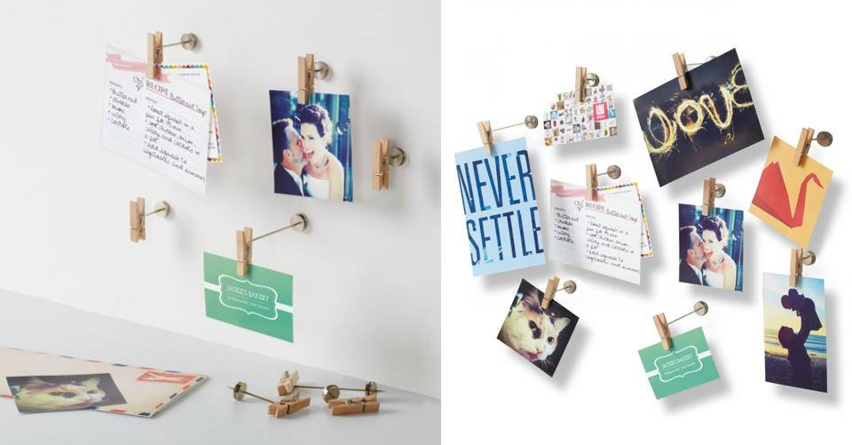 Hang je foto's of kaarten op met de mini fotoknijpers!