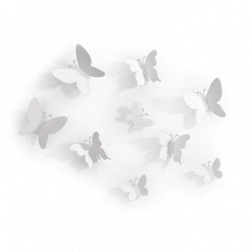 Umbra Wandvlinders Mariposa Set van 9 Wit